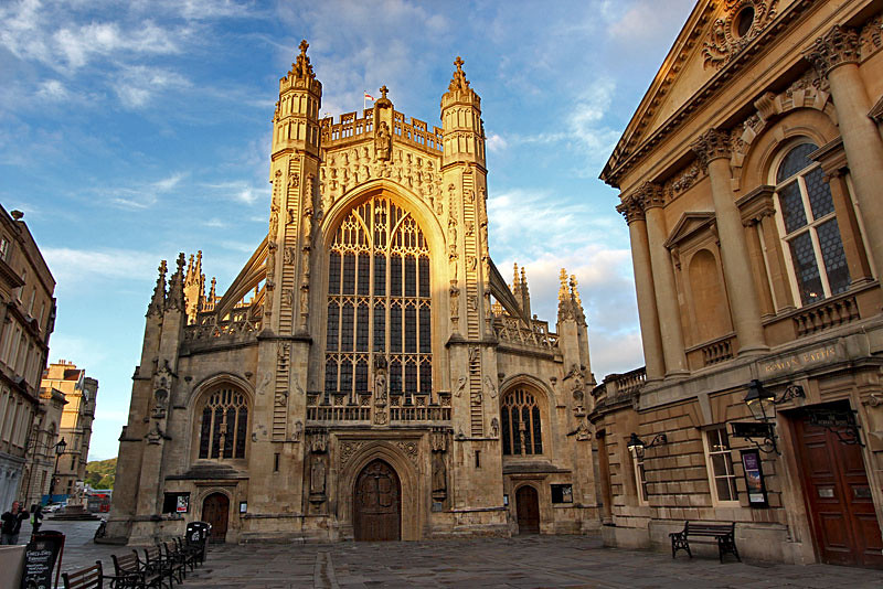 Bath Abbey, an Anglican church and former Benedictine monastery in Bath, England