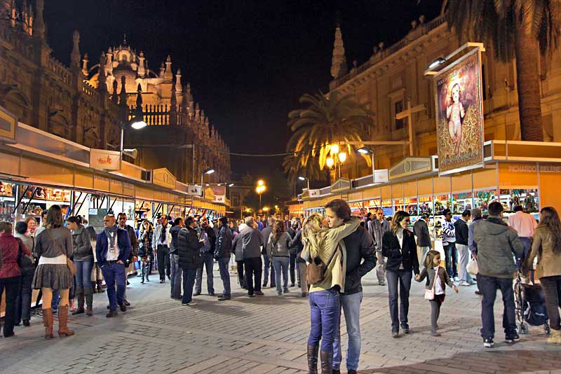 Annual Christmas Market in Seville, Spain