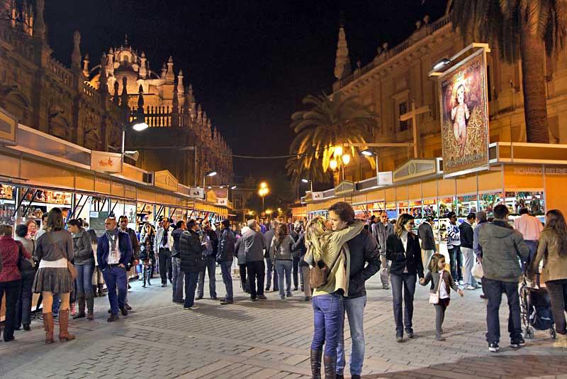 Annual Christmas Market in Seville, Spain