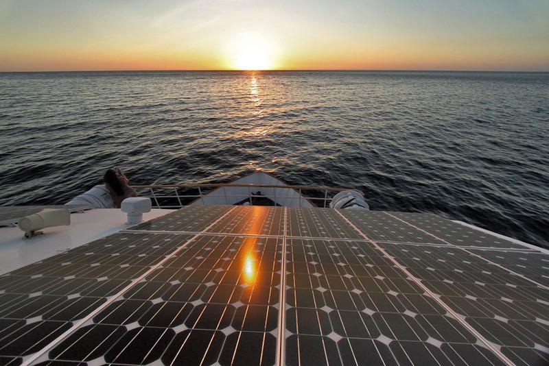 Solar Panels aboard Ecoventura's Yacht