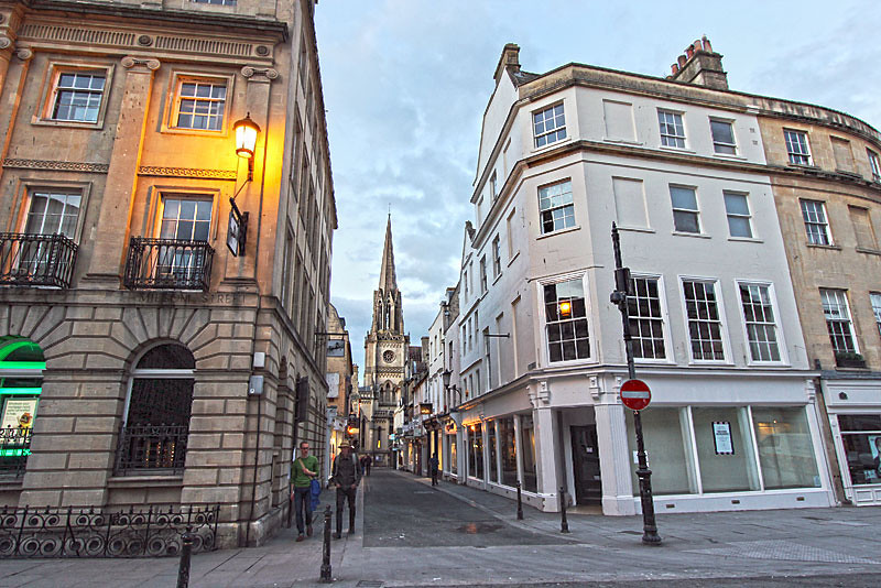 Stunning architecture in Bath, England, home to the country's only natural hot springs