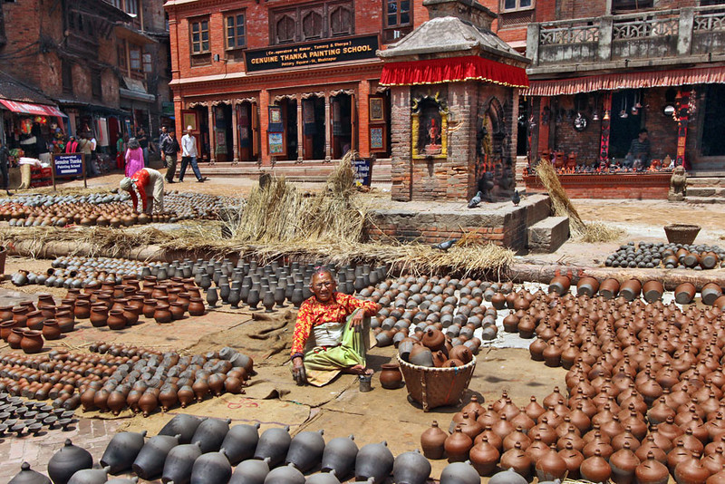 Pottery Square at Bhaktapur, Nepal