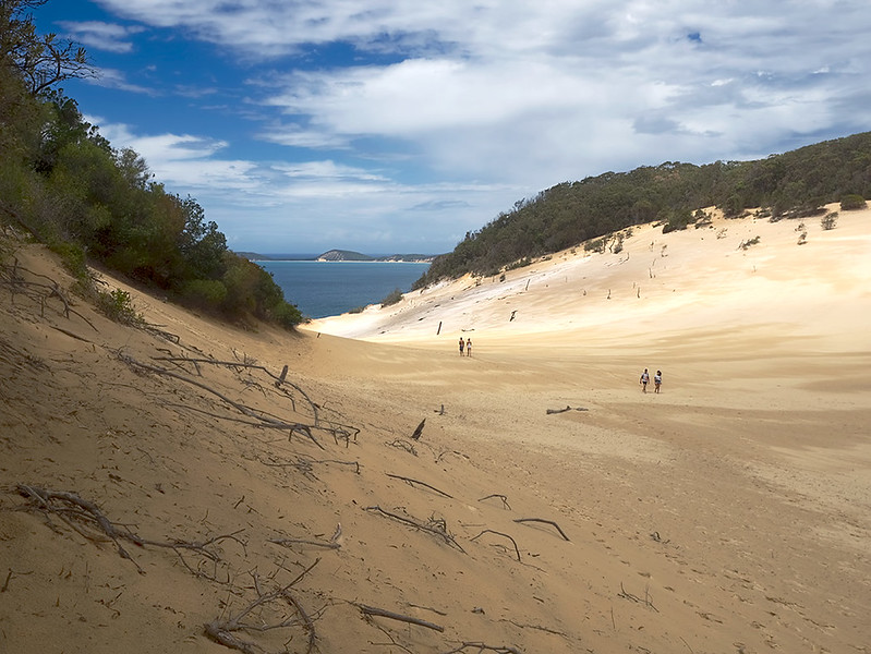 The vast and magnificent Carlo Sand Blow at Rainbow Beach, on the Sunshine Coast of Australia