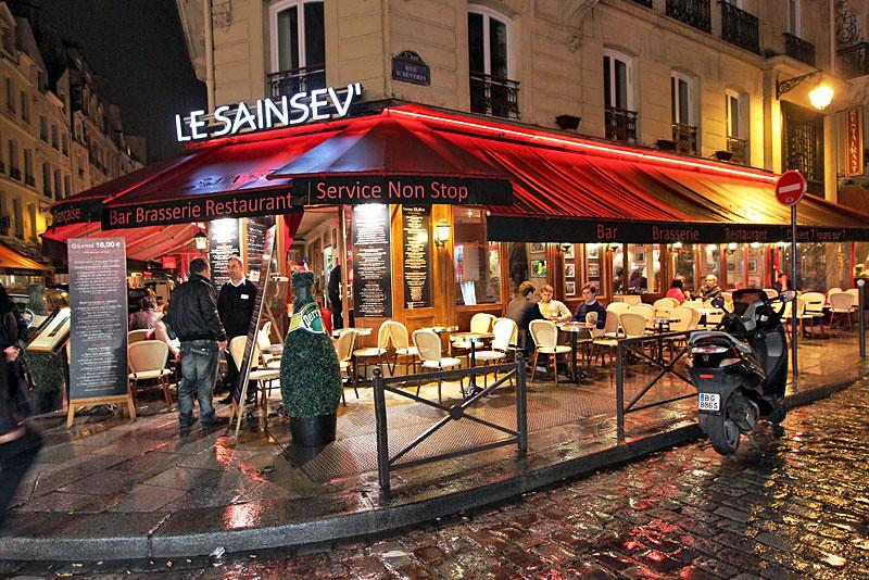 Cafe in the St. Germain neighborhood in Paris, France