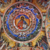 Ceiling fresco in the church at Rila Monastery in Bulgaria