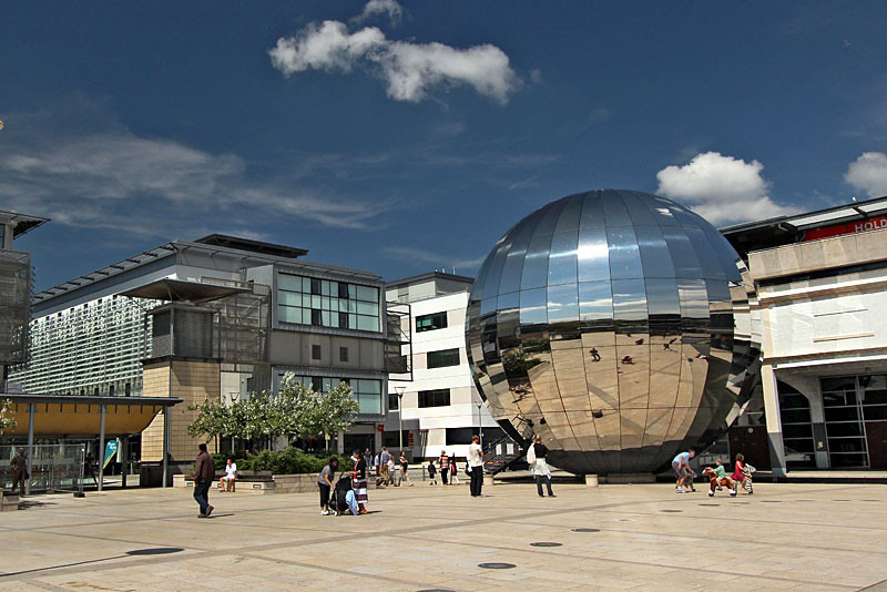 Millennium Square, a favorite gathering place for festivals and events in Bristol, England