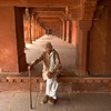 Dignified elderly man poses for me at Fatehpur Sikri Palace in Agra, India
