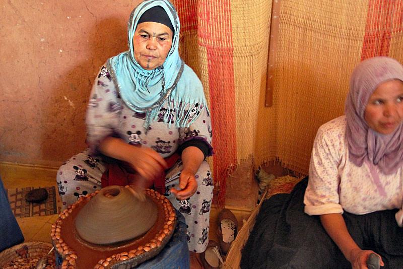 Women extracting Argan Oil near Ouarzazate, Morocco