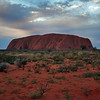 Uluru, the Massive Rock Monolith in Australia's Red Center, at Sunset