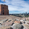 Gediminas Tower in Vilnius, Lithuania, the best preserved part of the Upper Castle ruins