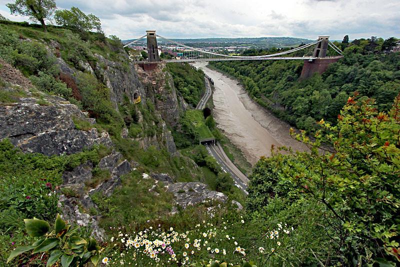 Bristol Bridge, the most famous landmark in Bristol, England
