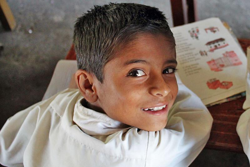 PHOTO: Student at Annapurna Primary School, Pokhara, Nepal