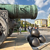 Tsar Cannon, the largest bombard by caliber in the world, on display at the Kremlin in Moscow