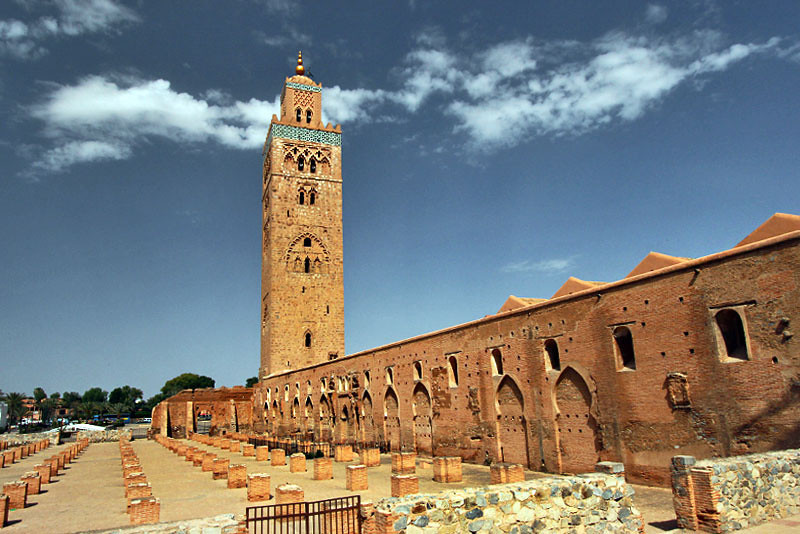Historic Koutoubia Mosque in Marrakech, Morocco