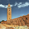 Historic Koutoubia Mosque in Marrakech, Morocco