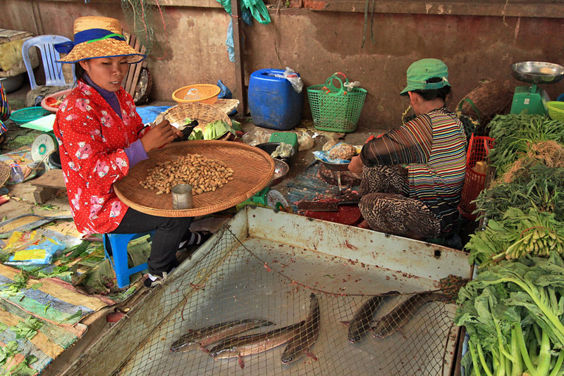 Phsar Nath Market in Battambang, Cambodia