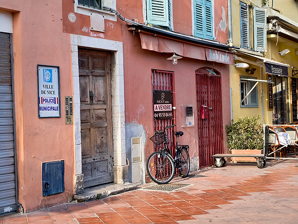 Municipal Police Station in Nice, France. Though Nice is one of the most famous destinations on the French Riviera, it's still a simple town