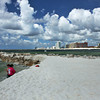 Pure white sands of Florida Point Beach in Gulf State Park, Alabama