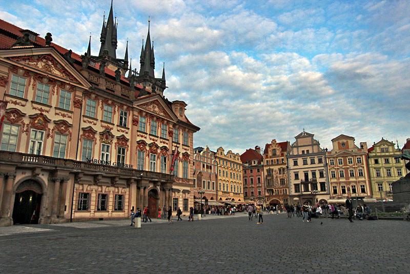 Stunning architecture of Old Town Square in Prague, Czech Republic
