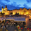 Prague's Old Town Square, stunning by day, is even more beautiful at night