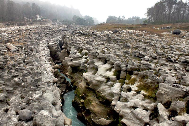River gorge near Jampaling Tibetan Refugee Settlement, east of Pokhara, Nepal