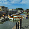 Locks Along the Erie Canal in Lockport, New York