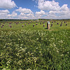 Woodhenge, a Bronze Age wooden religious structure similar to Stonehenge in Wiltshire County, England