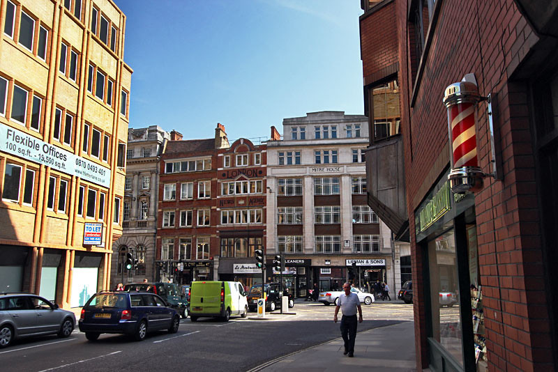 Fleet Street in London, historical home of London's publishing houses and newspapers