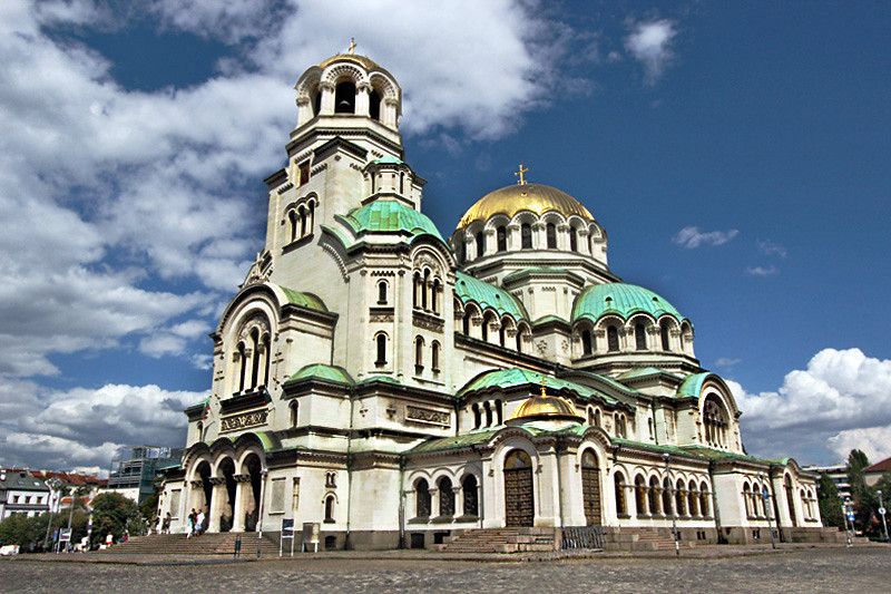 Alexander Nevsky Eastern Orthodox Cathedral in Sofia, Bulgaria is one of the largest in the world