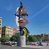 Roy Lichtenstein sculpture on the waterfront in Barcelona, Spain