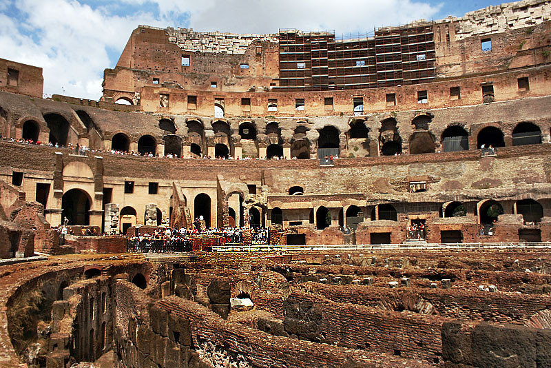 Interior of the Colosseum in Rome was Scene to Some Horrific Spectacles