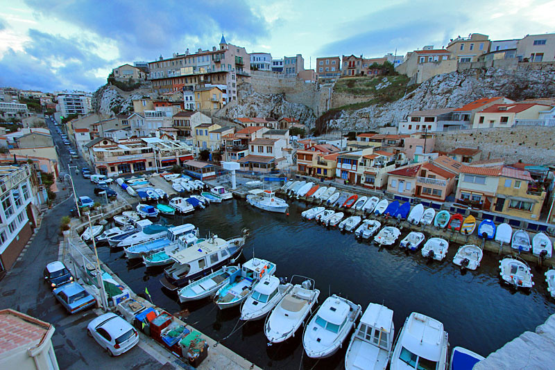 Vallon des Auffes fishing village, Marseille, France