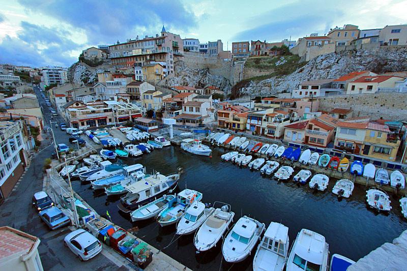 Vallon des Auffes fishing village, Marseille, France