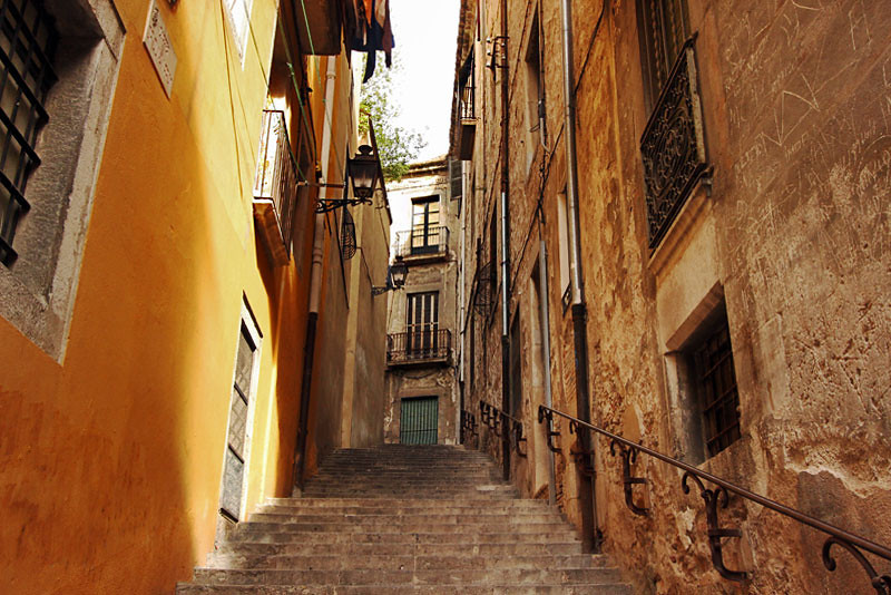 The Jewish Quarter in old town, Girona, Spain