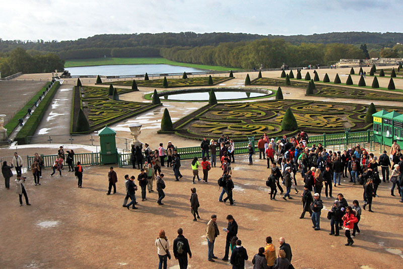 Gorgeous gardens at Versailles Palace, near Paris France