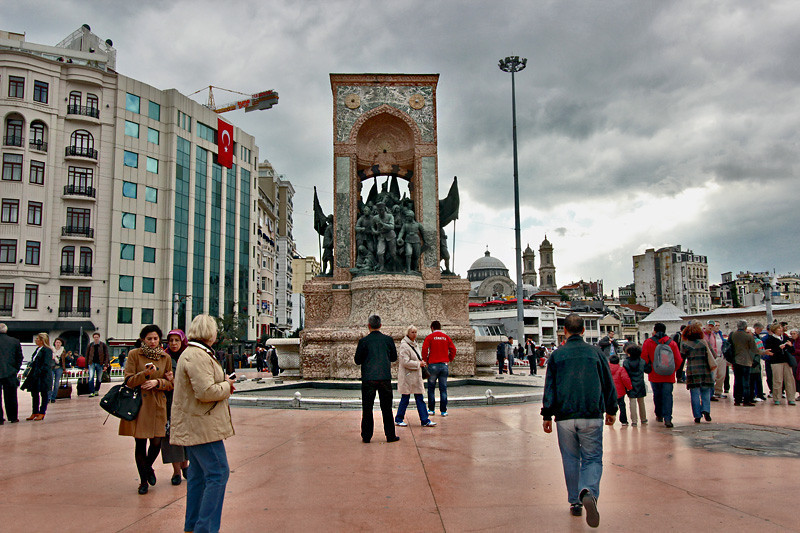 Taksim Square, cultural and spiritual heart of Istanbul, Turkey