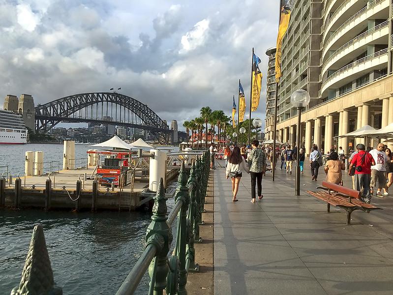 Harbour Bridge and Circular Quay in Sydney, Australia
