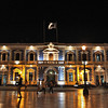 Brightly Illuminated Municipal Palace in Trujillo, Peru
