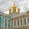 Detail of the exterior of Catherine's Palace in St. Petersburg, Russia