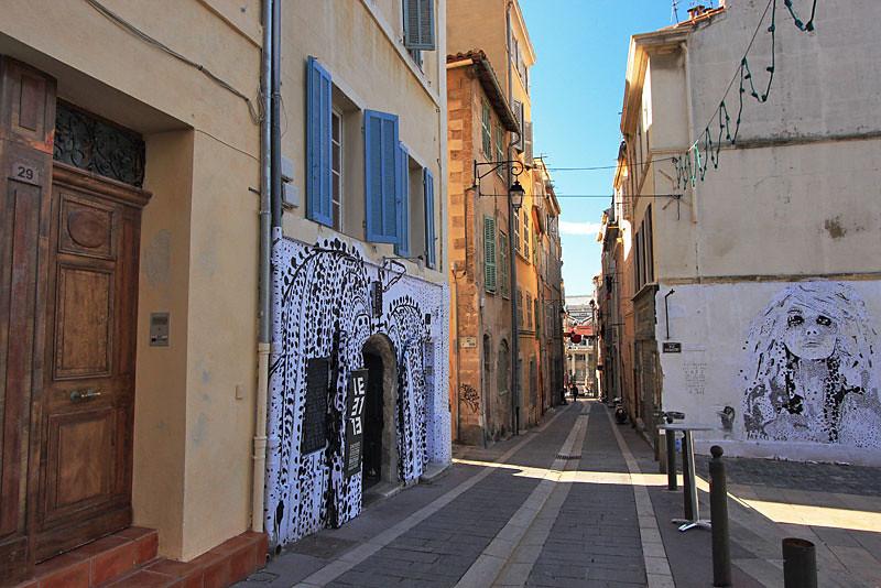 Quartier du Panier, the old town in Marseille, France