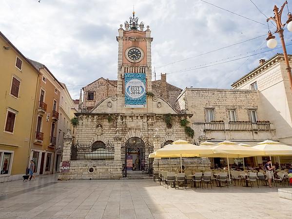 People's Square in Zadar, Croatia