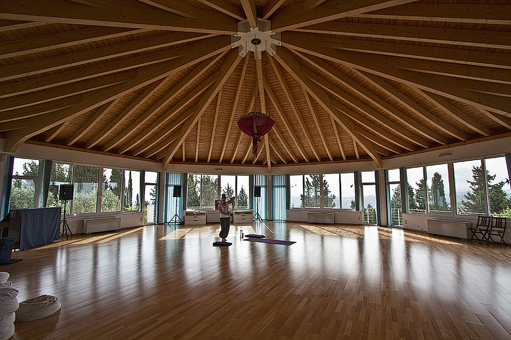 Corfu Buddha Hall in Arillas, Corfu is the site of weekly Osho meditations, as well as Yoga, Tai Chi, and other classes