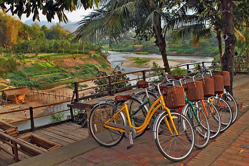 Bikes are the Preferred Method of Travel in Luang Prabang, Laos