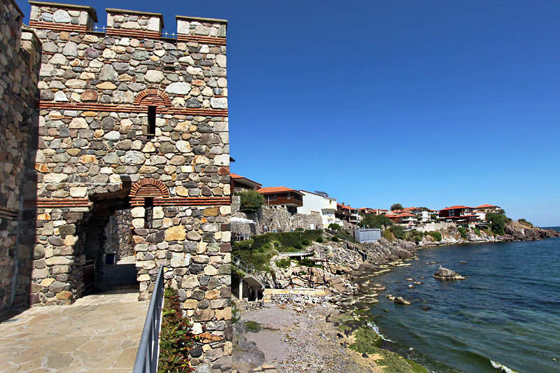 One of the towers that formed the ancient fortifications along the Black Sea in Sozopol, Bulgaria