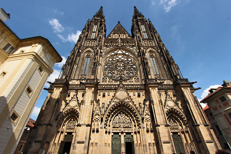 St. Vitus Cathedral, inside the grounds of Prague Castle, Czech Republic