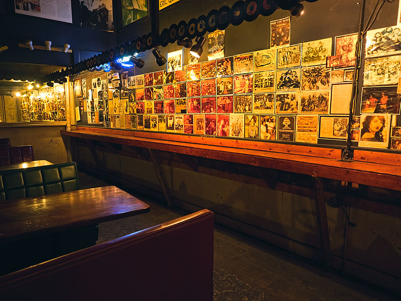 The Wall of Fame at Grant's Lounge in Macon, Georgia, displays some of the greats that played at the bar during the 70's, when Macon was the epicenter of the Southern rock scene