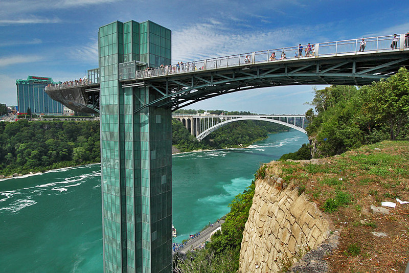 Observation Tower on the U.S. Side of Niagara Falls, New York