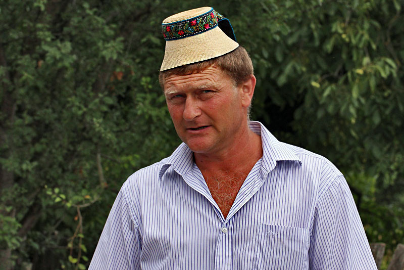 Traditional hat worn by men in the village of Breb, Maramures County, Romania