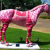 """RACE FOR THE CURE"" Horse  by Lori Cook"