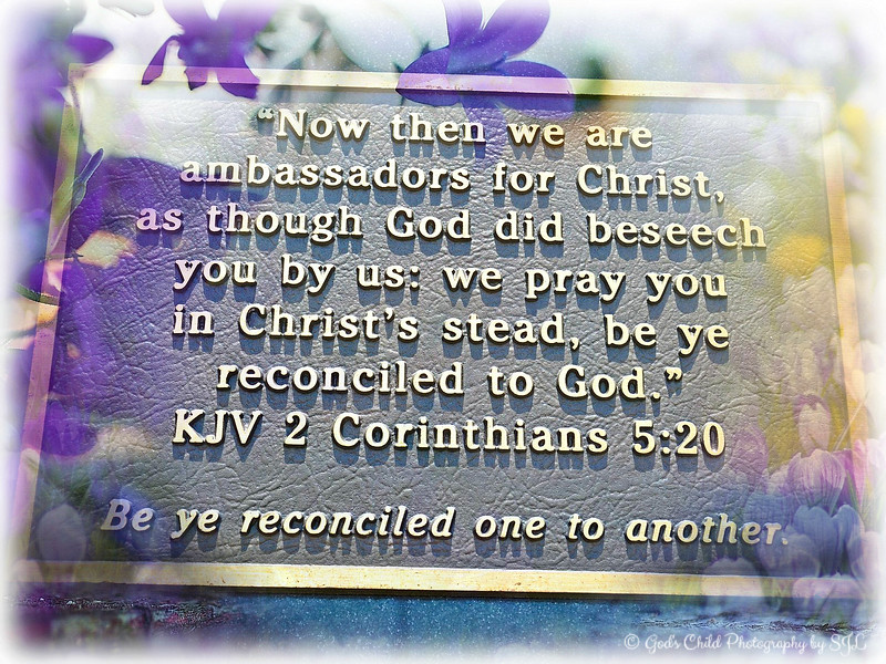 """BE YE RECONCILED....."""
